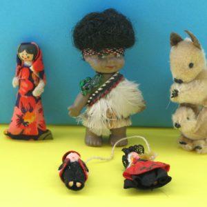 Vintage Costume World Dolls
