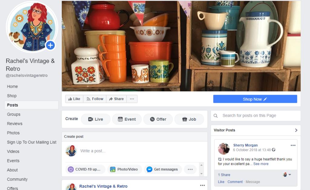 Rachel's Vintage & Retro Facebook Page