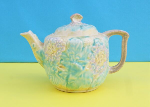 Vintage Avon Ware Small Teapot Raised Floral Design 30s 40s
