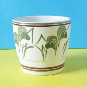 Vintage Cinque Ports Pottery Rye Small Planter Green Hand Painted 70s