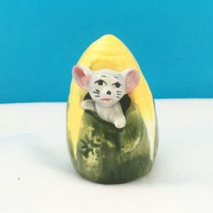 Vintage Napco Mouse Toothpick Holder Sweetcorn 1960s