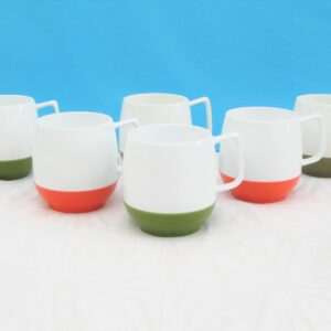 Vintage 1970s Dinex Thermos Insulated Ware Picnic Cups Mugs Set of 6