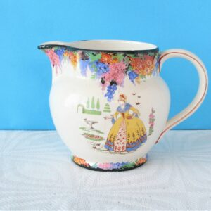 Vintage Crinoline Lady Small Jug H&K Tunstall Made In England 1940s