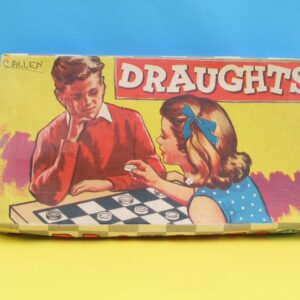 Vintage Draughts Board Game by Topsail Games 50s 60s