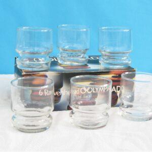 Vintage Ravenhead Olympiad 14cl Drinks Glasses Tumblers 70s 80s