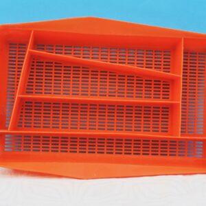 Vintage Retro Orange Plastic Cutlery Drawer Organiser by Plysu 1970s