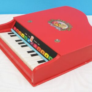Vintage 80s Baby Piano Toy Wooden Musical Instrument by Beilei Shanghai China