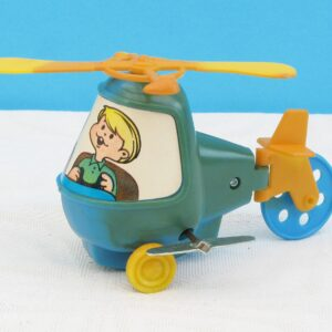 Vintage Hong Kong Toys Kiddy Copter Wind Up Helicopter Boxed 70s 80s