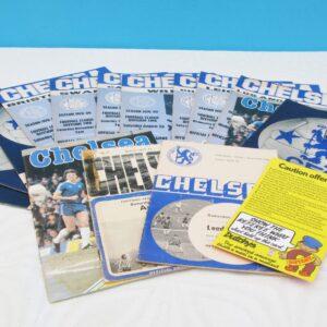 Vintage Job Lot Chelsea Football Club Match Day Programmes 70s 80s