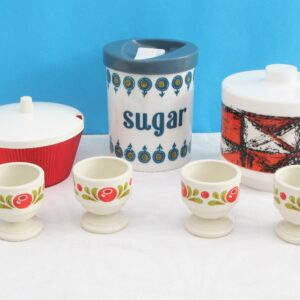 Vintage Kitchenalia Plastic Containers Egg Cups - 4 to Choose From