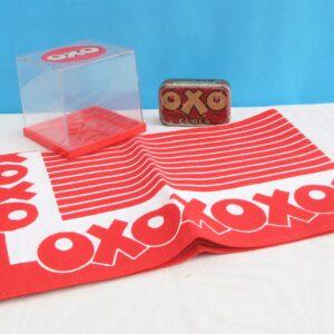 Vintage Oxo Memorabilia Various - Choose From: Old Tin, Tea Towel or Plastic Storage Box