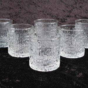 Vintage Ravenhead Siesta Glasses x 6 Small Tumblers Bark John Clappison 70s