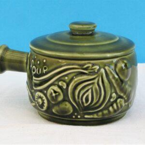 Vintage Sylvac Lidded Soup Pot Green No 4905 40s 50s HTF Rare