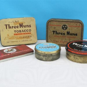 Vintage Tobacco Tins - Choose from Three Nuns, Players Navy Cut and Prince Christian