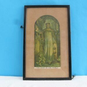 Vintage Holman Hunt The Light of the World Christ Jesus Framed Print