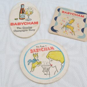 Vintage-Babycham-Beer-Mats-Coasters-1960s-3-to-choose-from