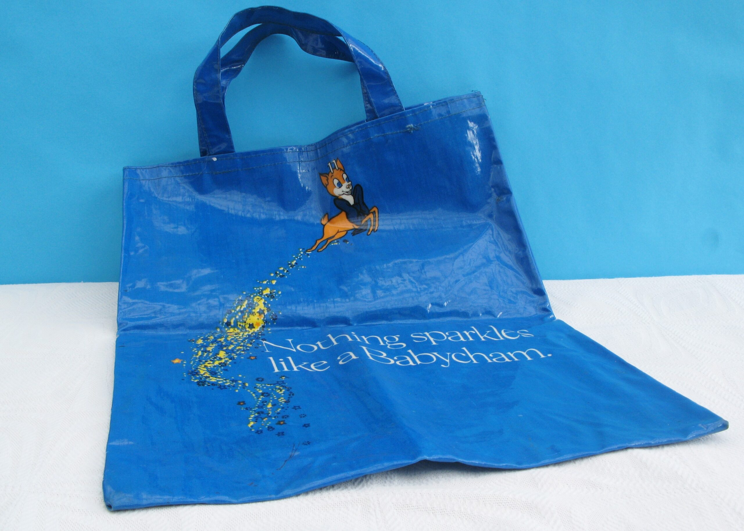 Vintage Babycham Collectable PVC Shopper Shopping Bag 70s 80s