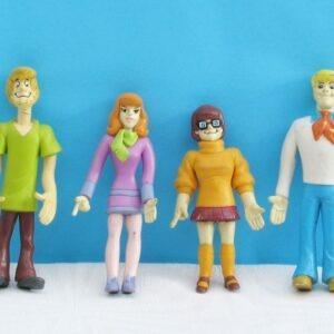 Vintage Bendy Scooby Doo Vinyl Figures 1999 Hanna Barbera