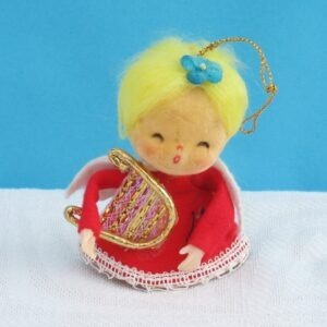 Vintage-Kitsch-Christmas-Tree-Decoration-Angel-Hanging-Ornament-60s-70s