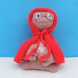 Vintage-Original-80s-ET-Plush-Toy-Figure-T-Shirt-Red-Coat