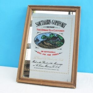 Vintage Retro Pub Mirror Southern Comfort 70s 80s Perfect for Man Cave / Home Bar