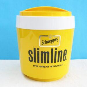 Vintage Schweppes Slimline Pub Ice Bucket Stewart 70s 80s