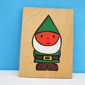 Vintage Galt Wooden Puzzle Tray Gnome Bod Joanne Cole 70s 80s