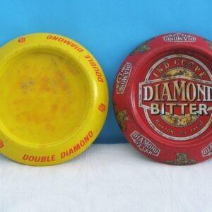 Vintage Double Diamond Bitter Round Metal Pub Ashtrays - 2 to Choose From