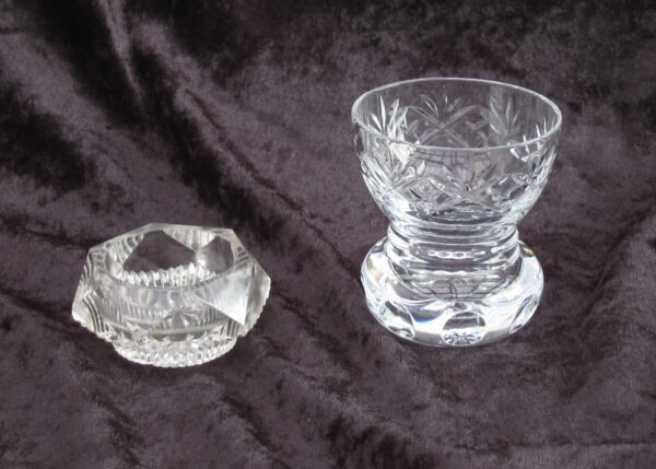 Vintage Antique Cut Glass Table Oddments Salt Bud Vase