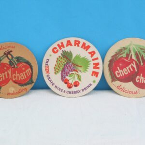 Vintage Cherry Charm Charmaine Beer Mats Coasters Choose from 3