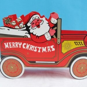 Vintage Cut Out Santa Truck Confectionery or Gift Box Cardboard 80s 90s