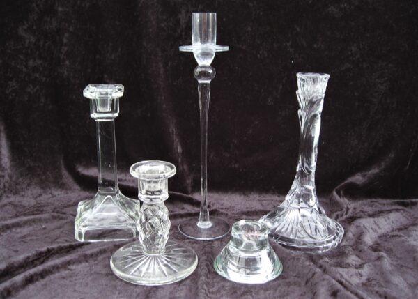 Vintage Decorative Glass Candlesticks