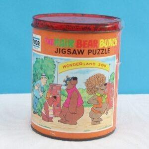 Vintage Hair Bear Bunch Jigsaw Puzzle in a Tin