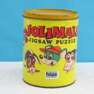 Vintage Jollimals Jigsaw Puzzle in a Tin 50 Pieces Complete 70s