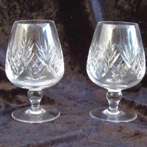 Vintage Lead Crystal Brandy Glasses