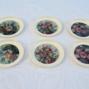 Vintage-Olympia-Cocktail-Mats-Plastic-Floral-Designs-x6-70s-80s-4