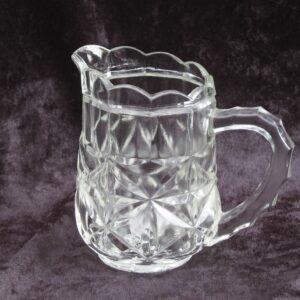 Vintage Pressed Glass Milk Jug 60s 70s