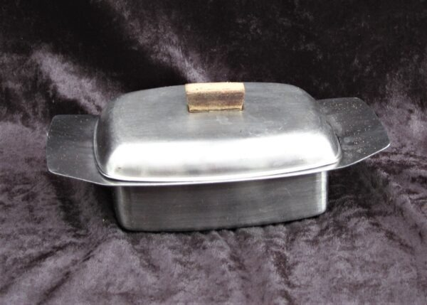Vintage Stainless Steel Butter Dish