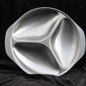 Vintage Stainless Steel Divided Serving Platter