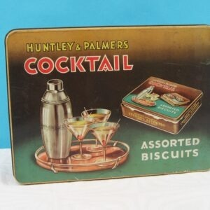 Vintage Cocktail Biscuits Tin Huntley Palmers 40s 50s