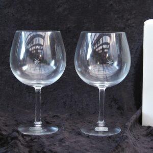 Vintage Rare Kosta Boda Bouquet Wine Glasses x2 Boxed Sweden 80s