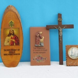 Vintage Religious Wooden Christian Artefacts Icons Protection - 4 to choose from