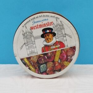 Vintage Round Tin Westiminster Beefeater Jamesons Chocolates 60s 70s