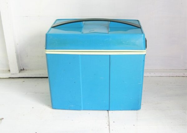 Vintage Cool Box Blue With Ice Blocks 70s 80s Campervan Picnic Camping
