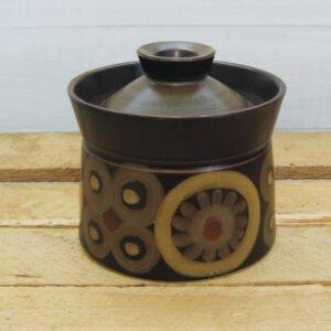 Vintage Denby Arabesque Jam Condiment Pot Stoneware 1970s