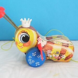 Vintage Rare Fisher Price Queen Buzzy Bee Pull Along Toy Collectors 50s 60s