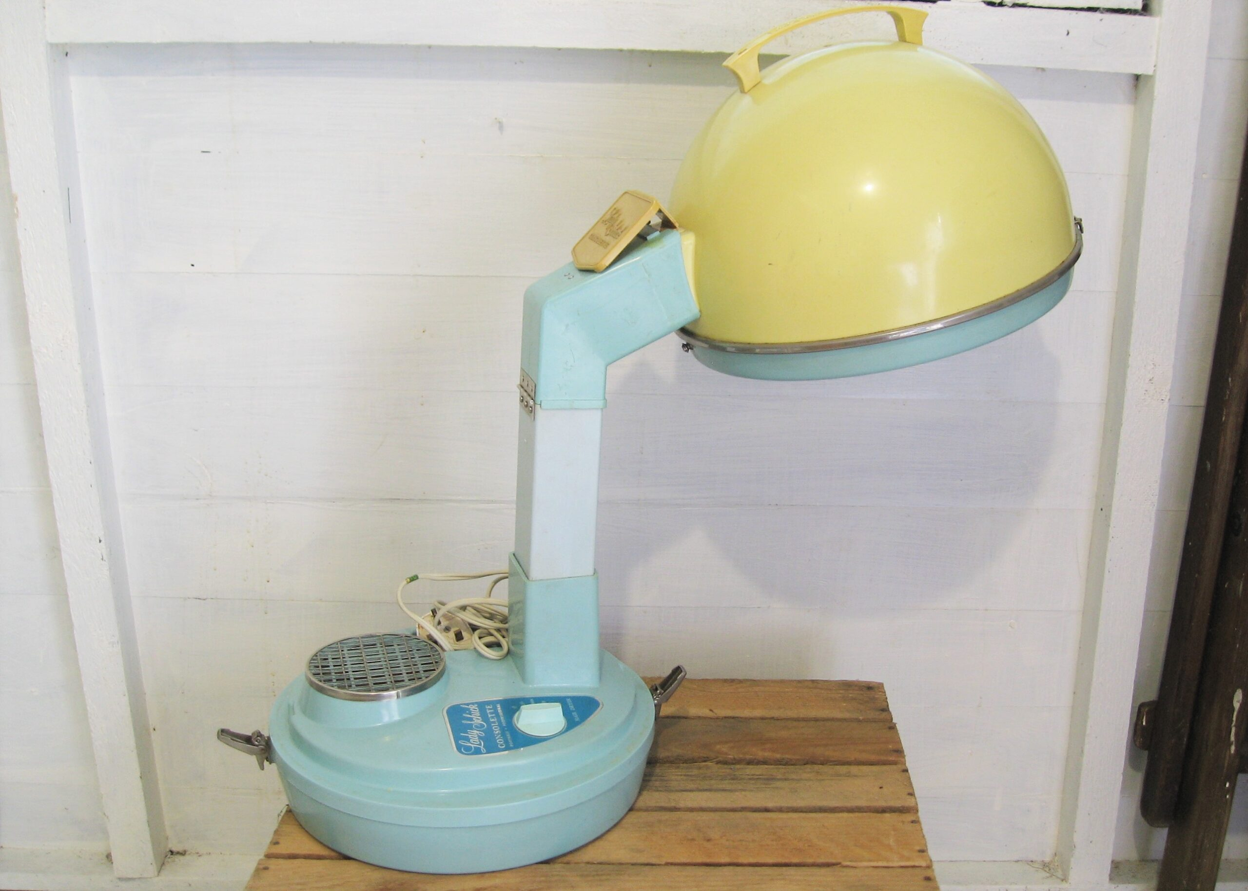 Vintage-Lady-Schick-Consolette-Hood-Hair-Dryer-Table-Top-1960s-Working-Order