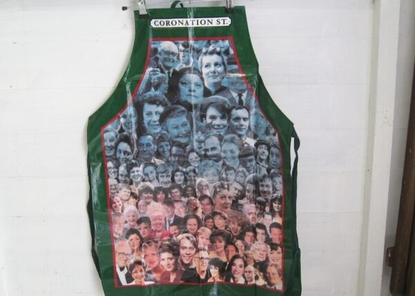 Vintage Official Coronation Street Characters Apron PVC Coated Cotton 1990s