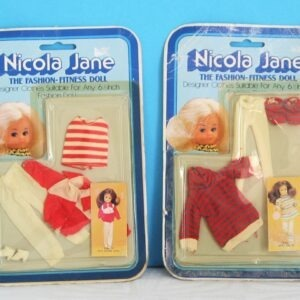 Vintage Pippa Dawn Clone Doll 6 1/2 inch Fitness Outfits 70s 80s - Choice of 2
