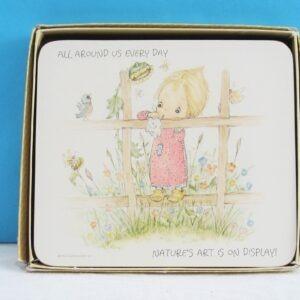 Vintage-Betsy-Clark-Melamine-Placemats-x6-Boxed-Clover-Leaf-70s-80s